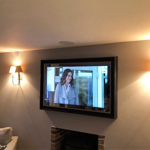 Kitchen TVs - Mirror TVs - Integrated Door, TV Splashback